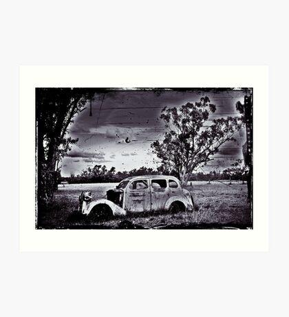 Elderly Car not going far. Art Print