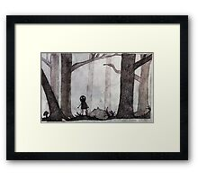 ..Monochrome: Lost.. Framed Print