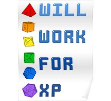 Will work for XP Poster