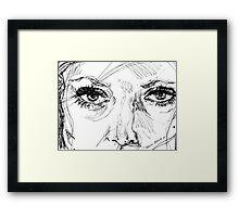 Engraved Ink Framed Print