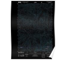 USGS Topo Map Oregon Rooster Rock 20110811 TM Inverted Poster