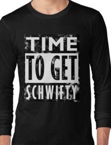 Rick and Morty Get Schwifty Lyrics Print Long Sleeve T-Shirt