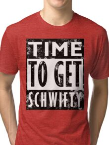 Rick and Morty Get Schwifty Lyrics Print Tri-blend T-Shirt