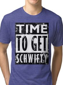 Rick and Morty Get Schwifty Lyrics Print Tri-blend T-Shirt