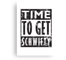 Rick and Morty Get Schwifty Lyrics Print Canvas Print