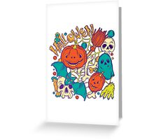 Halloween design with wicth stuff Greeting Card