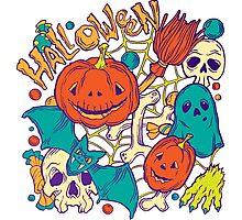Halloween design with wicth stuff Photographic Print