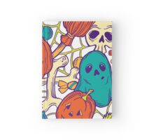 Halloween design with wicth stuff Hardcover Journal
