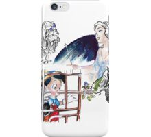 Story Lines - Pinocchio Characters 1 iPhone Case/Skin