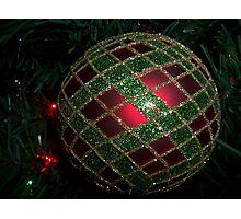 Red & green cross work Photographic Print