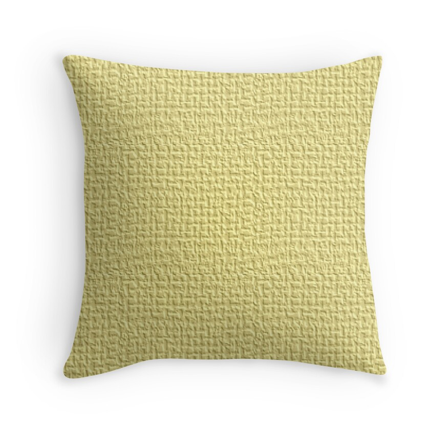 Yellow Linen Throw Pillow :