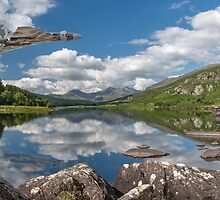 Vulcan Over Lake by Adrian Evans