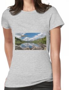 Vulcan Over Lake Womens Fitted T-Shirt