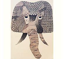 Aztec Elephant Photographic Print