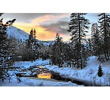 Winter Evening Photographic Print