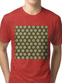 Polkadot Green and Brown Tri-blend T-Shirt