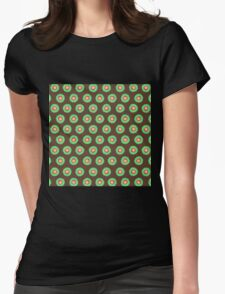 Polkadot Green and Brown Womens Fitted T-Shirt