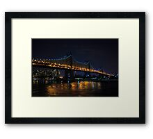 Queensboro Bridge at Night Framed Print