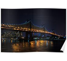 Queensboro Bridge at Night Poster
