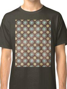 Vintage Retro Polkadot Brown Pattern Classic T-Shirt