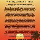 Desiderata on Red Ocean Sunset and Lone Palm by Desiderata4u
