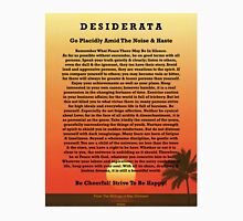 Desiderata on Red Ocean Sunset and Lone Palm Unisex T-Shirt