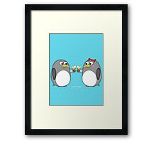 Climate change is ruining romantic moments Framed Print