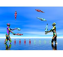 To Juggle Or Not  To Juggle.  THAT is  the question! Photographic Print