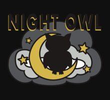 Owl Sitting on the Moon Baby Tee