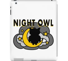 Owl Sitting on the Moon iPad Case/Skin