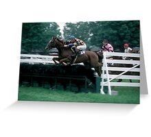 The Steeplechase Greeting Card