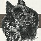 Schipperke Father & Son by BarbBarcikKeith