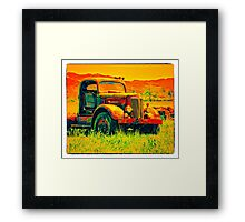 Travel To Oregon In Your Truck Framed Print