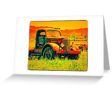 Travel To Oregon In Your Truck Greeting Card