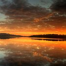Red Sky In The Morning - Narrabeen Lakes, Sydney Australia - The HDR Experience by Philip Johnson