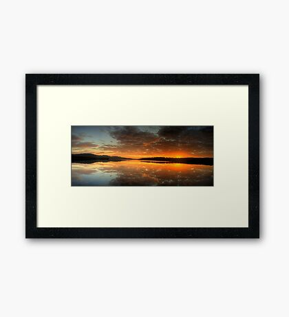 Red Sky In The Morning - Narrabeen Lakes, Sydney Australia - The HDR Experience Framed Print