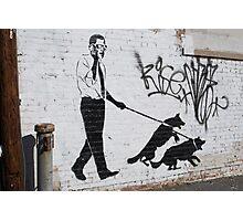 Presidential Graffiti Dog Walking Photographic Print