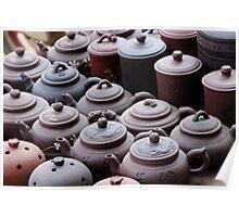 Tea pots... Poster