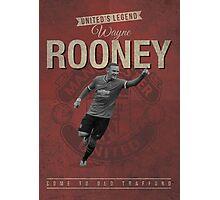 Wayne Rooney Retro Design Photographic Print