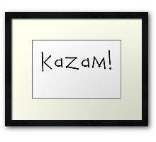 Kazam! (black) Framed Print