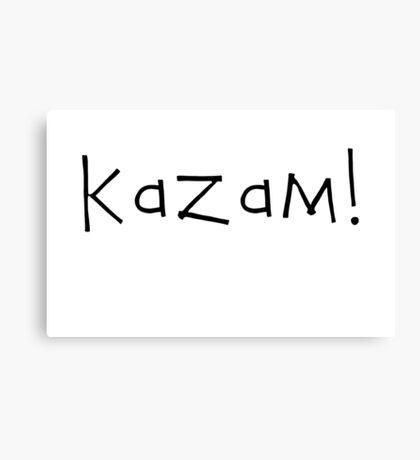 Kazam! (black) Canvas Print