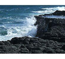 Smashing Rocks Photographic Print