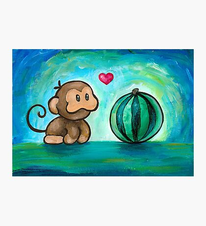 Ukiki, the Yoshi's Island Monkey! Photographic Print