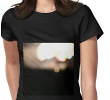 Bokeh Fireworks Through Metal Railing Womens Fitted T-Shirt