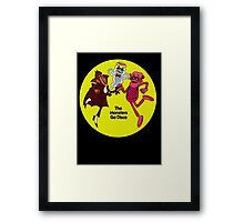 Saturday Morning Disco Dancing Cereal Monsters Framed Print