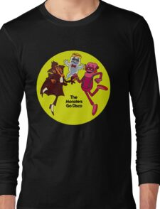 Saturday Morning Disco Dancing Cereal Monsters Long Sleeve T-Shirt
