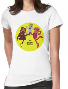 Saturday Morning Disco Dancing Cereal Monsters Womens Fitted T-Shirt