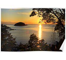Sunset Over the San Juan Islands Poster