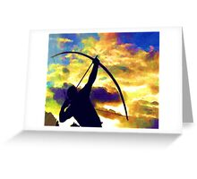 The archer Greeting Card