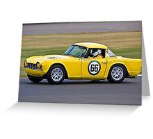 Yellow TR4 Greeting Card